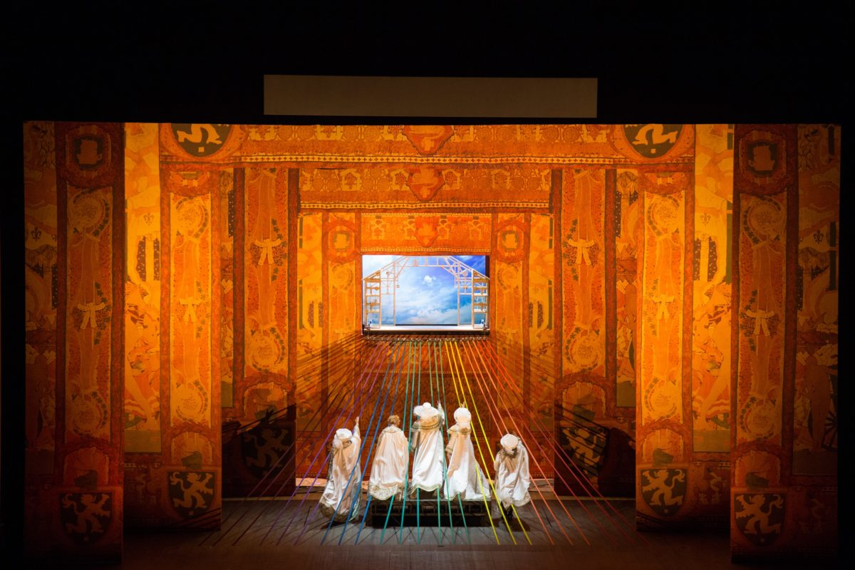 Lyric Opera of Chicago's production of Das Rheingold; credit: Andrew Cioffi
